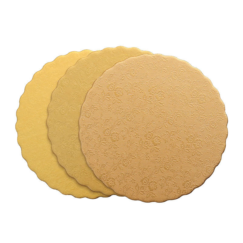 8 Inches Round Silver Gold Embossed Foil Cake Boards